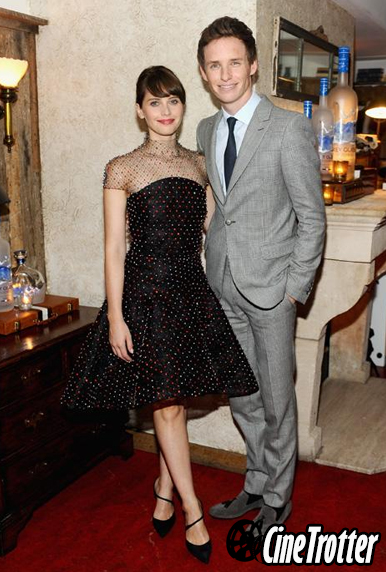 Felicity Jones in an Armani Privé frock
