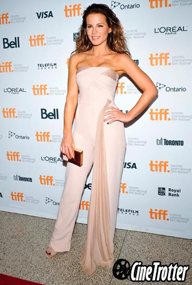 Kate Beckinsale in an Azzaro jumpsuit