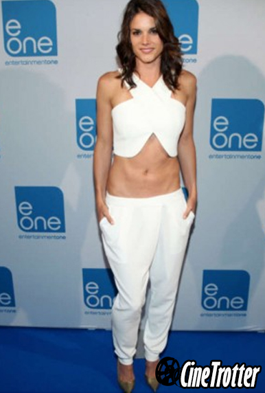 Miss Peregrym in white