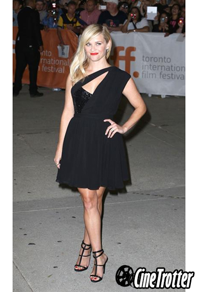 Reese Witherspoon in a Saint-Laurent little black dress