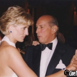 Oscar de la Renta with Princess Diana