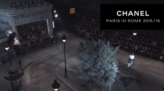 CHANEL's Métiers d'Art show 2015/16: Paris in Rome