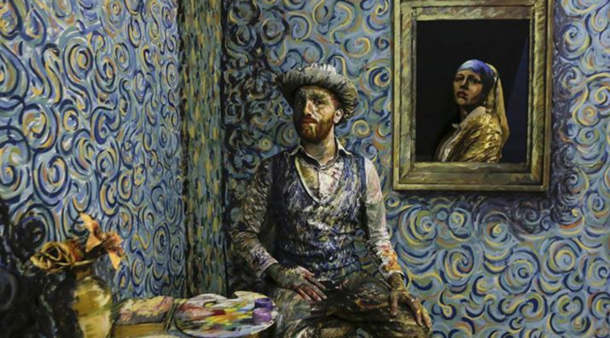 Vermeer and Van Gogh visiting the Lebanese University