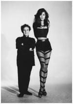 Jasmine Ghauri and Azzedine Alaïa (1991) | Photographer: Patrick Demarchelier ©